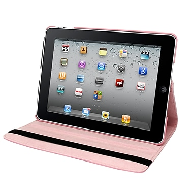 Natico 60-IA360-LPK Faux Leather Folio Case for Apple iPad Air, Light Pink