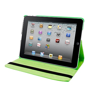 Natico 60-IA360-GN Faux Leather Folio Case for Apple iPad Air, Green