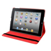 Natico 60-IA360-RD Faux Leather Folio Case for Apple iPad Air, Red