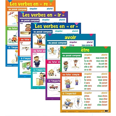 French Multi-tense Verb Posters (5 pk)