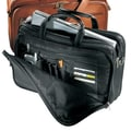 Andrew Philips Vaqueta Napa Organizer Leather Laptop Briefcase; Black