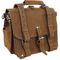 Vagabond Traveler 14'' Heavy Duty Medium Full Leather Briefcase and Backpack