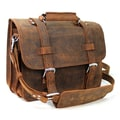 Vagabond Traveler 3-Tier Pro Leather Laptop Briefcase