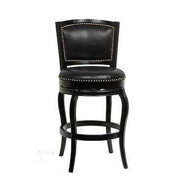 Boraam Harris 29'' Swivel Bar Stool with Cushion; Black