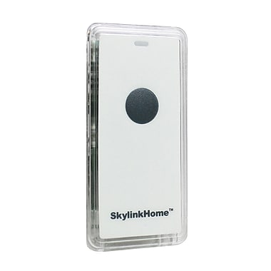 SkyLink® HomeControl TM-318 Mini Snap-On Wireless Battery-Operated Remote Transmitter for WE-001 & WR-001 Wall Switches, White