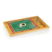 "Picnic Time® NFL Licensed Icon ""Washington Redskins"" Digital Print Cutting Board, Natural Wood"