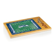"""Picnic Time® NFL Licensed Icon """"Seattle Seahawks"""" Digital Print Cutting Board, Natural Wood"""
