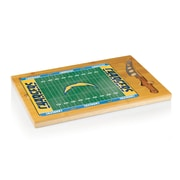 "Picnic Time® NFL Licensed Icon ""San Diego Chargers"" Digital Print Cutting Board, Natural Wood"