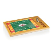 """Picnic Time® NFL Licensed Icon """"Kansas City Chiefs"""" Digital Print Cutting Board, Natural Wood"""