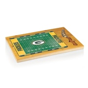 Picnic Time® NFL Licensed Icon Green Bay Packers Digital Print Cutting Board, Natural Wood