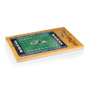 """Picnic Time® NFL Licensed Icon """"Baltimore Ravens"""" Digital Print Cutting Board, Natural Wood"""