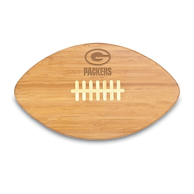 """""Picnic Time NFL Licensed Touchdown Pro! """"""""Green Bay Packers"""""""" Engraved Cutting Board, Natural"""""" 913211"