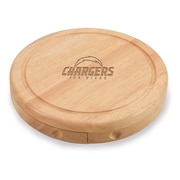 "Picnic Time® NFL Licensed Brie ""San Diego Chargers"" Engraved Cheese Board Set W/Tools, Wood/Brown"