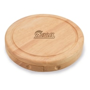 "Picnic Time® NFL Licensed Brie ""New England Patriots"" Engraved Cheese Board Set W/Tools, Wood/Brown"
