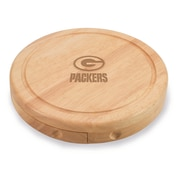 "Picnic Time® NFL Licensed Brie ""Green Bay Packers"" Engraved Cheese Board Set W/Tools, Wood/Brown"