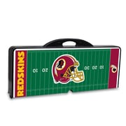 Picnic Time® NFL Licensed Washington Redskins Digital Print ABS Plastic Sport Picnic Table, Black
