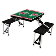 Picnic Time® NFL Licensed Kansas City Chiefs Digital Print ABS Plastic Sport Picnic Table, Black