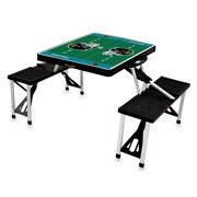 "Picnic Time® NFL Licensed ""Jacksonville Jaguars"" Digital Print ABS Plastic Sport Picnic Table, Black"