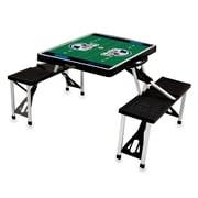 "Picnic Time® NFL Licensed ""Carolina Panthers"" Digital Print ABS Plastic Sport Picnic Table, Black"