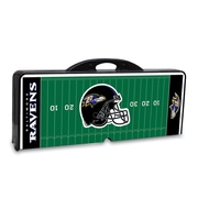 "Picnic Time® NFL Licensed ""Baltimore Ravens"" Digital Print ABS Plastic Sport Picnic Table, Black"