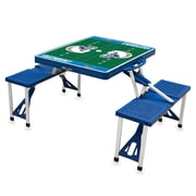"Picnic Time® NFL Licensed ""San Diego Chargers"" Digital Print ABS Plastic Sport Picnic Table, Blue"