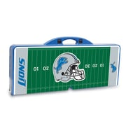 "Picnic Time® NFL Licensed ""Detroit Lions"" Digital Print ABS Plastic Sport Picnic Table, Blue"