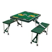 "Picnic Time® NFL Licensed ""Green Bay Packers"" Digital Print ABS Plastic Sport Picnic Table, Hunter"