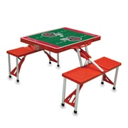 """Picnic Time® NFL Licensed """"Tampa Bay Buccaneers"""" Digital Print ABS Plastic Sport Picnic Table, Red"""