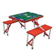 """Picnic Time® NFL Licensed """"New York Giants"""" Digital Print ABS Plastic Sport Picnic Table, Red"""