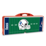 """Picnic Time® NFL Licensed """"New England Patriots"""" Digital Print ABS Plastic Sport Picnic Table, Red"""