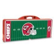 """Picnic Time® NFL Licensed """"Kansas City Chiefs"""" Digital Print ABS Plastic Sport Picnic Table, Red"""
