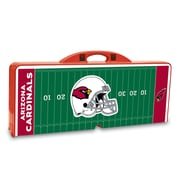 "Picnic Time® NFL Licensed ""Arizona Cardinals"" Digital Print ABS Plastic Sport Picnic Table, Red"