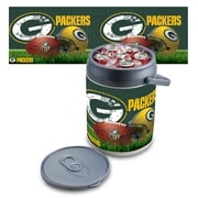"""Picnic Time® NFL Licensed """"Green Bay Packers"""" Digital Print Polyethylene Can Cooler, White/Gray"""