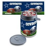 "Picnic Time® NFL Licensed ""Dallas Cowboys"" Digital Print Polyethylene Can Cooler, White/Gray"