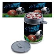 "Picnic Time® NFL Licensed ""Carolina Panthers"" Digital Print Polyethylene Can Cooler, White/Gray"
