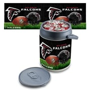 "Picnic Time® NFL Licensed ""Atlanta Falcons"" Digital Print Polyethylene Can Cooler, White/Gray"