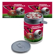 "Picnic Time® NFL Licensed ""Arizona Cardinals"" Digital Print Polyethylene Can Cooler, White/Gray"