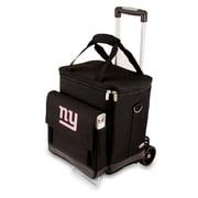 "Picnic Time® NFL Licensed Cellar ""New York Giants"" Digital Print Tote With Trolley, Black"