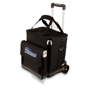 "Picnic Time® NFL Licensed Cellar ""New England Patriots"" Digital Print Tote With Trolley, Black"
