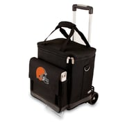 "Picnic Time® NFL Licensed Cellar ""Cleveland Browns"" Digital Print Tote With Trolley, Black"
