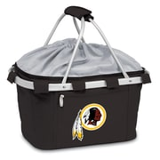 "Picnic Time® NFL Licensed Metro® ""Washington Redskins"" Digital Print Polyester Basket, Black"