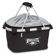 "Picnic Time® NFL Licensed Metro® ""Philadelphia Eagles"" Digital Print Polyester Basket, Black"