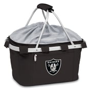"Picnic Time® NFL Licensed Metro® ""Oakland Raiders"" Digital Print Polyester Basket, Black"