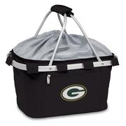 "Picnic Time® NFL Licensed Metro® ""Green Bay Packers"" Digital Print Polyester Basket, Black"
