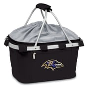 "Picnic Time® NFL Licensed Metro® ""Baltimore Ravens"" Digital Print Polyester Basket, Black"