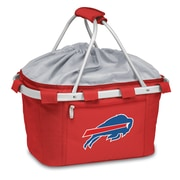 "Picnic Time® NFL Licensed Metro® ""Buffalo Bills"" Digital Print Polyester Basket, Red"
