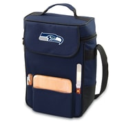 "Picnic Time® NFL Licensed Duet ""Seattle Seahawks"" Digital Print Wine Picnic Tote, Navy"