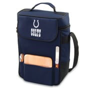 "Picnic Time® NFL Licensed Duet ""Indianapolis Colts"" Digital Print Wine Picnic Tote, Navy"