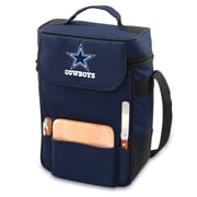 "Picnic Time® NFL Licensed Duet ""Dallas Cowboys"" Digital Print Wine Picnic Tote, Navy"