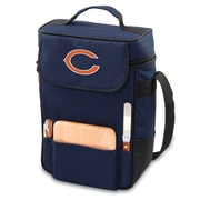 "Picnic Time® NFL Licensed Duet ""Chicago Bears"" Digital Print Wine Picnic Tote, Navy"